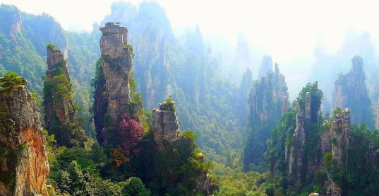 Скалы Тяньцзышань горы Аватара фото 1