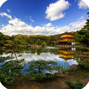 Золотой павильон Кинкакудзи фото 11