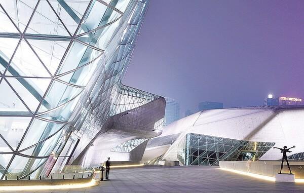 оперный театр в городе гуанчжоу - достопримечательности гуанчжоу