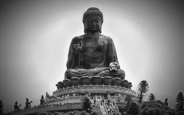 Большой Будда - достопримечательности Гонконга - фото